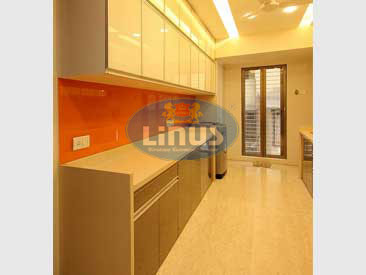 Back Painted Glass Kitchen in thane