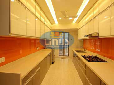 Back Painted Glass Kitchen in mumbai