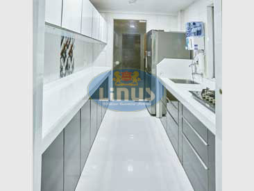 Back Painted Glass Kitchen in Dombivli