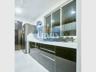 Back Painted Glass Kitchen in Bhiwandi